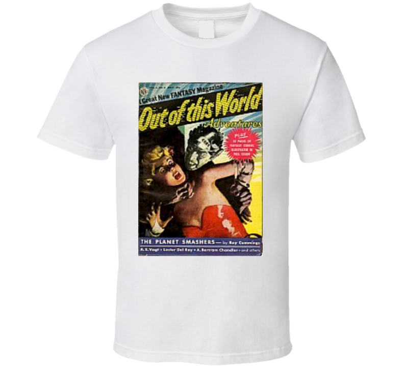 Out Of This World Adventures Comic Book T Shirt *