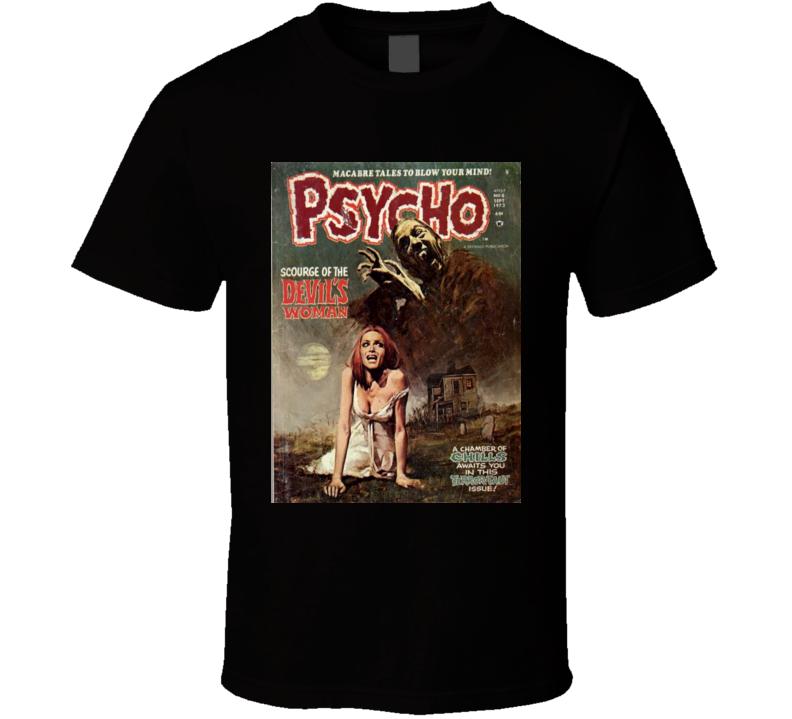 Psycho *COMIC BOOK T-SHIRT BLACK* Horror