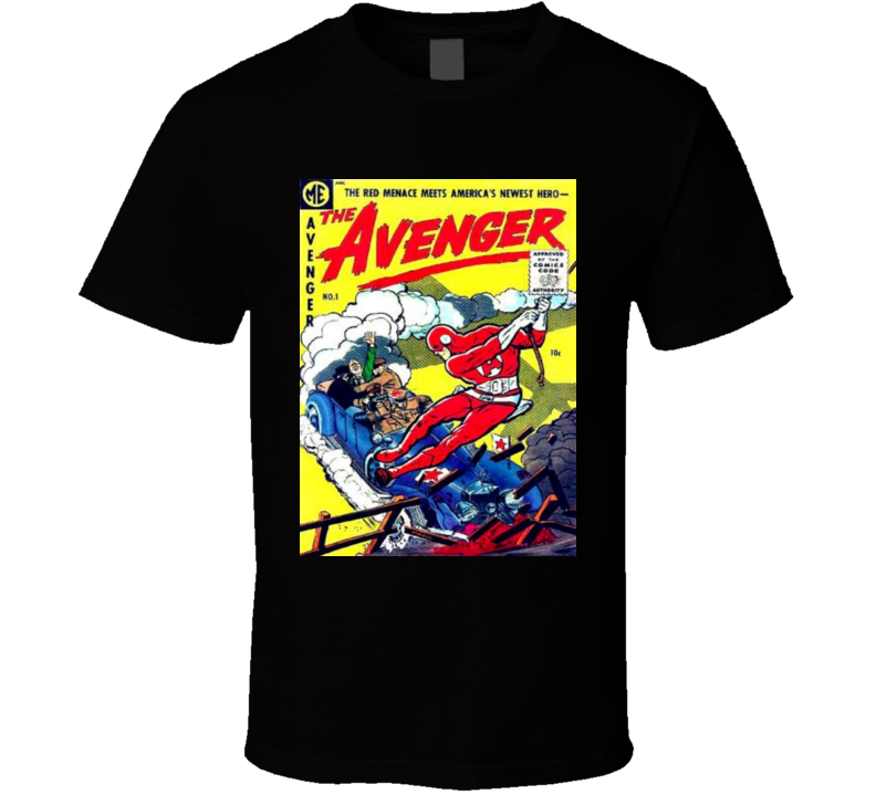 Avengers T-Shirt Men COMIC BOOK BLACK Issue #1 Super Hero Marvel...