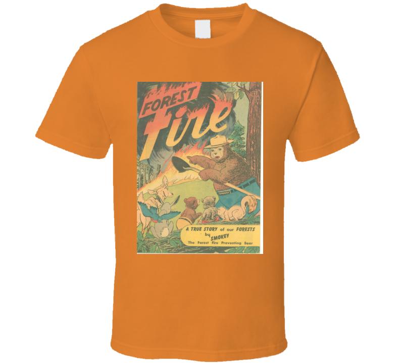 Men's T-shirt Smokey The Bear Orange