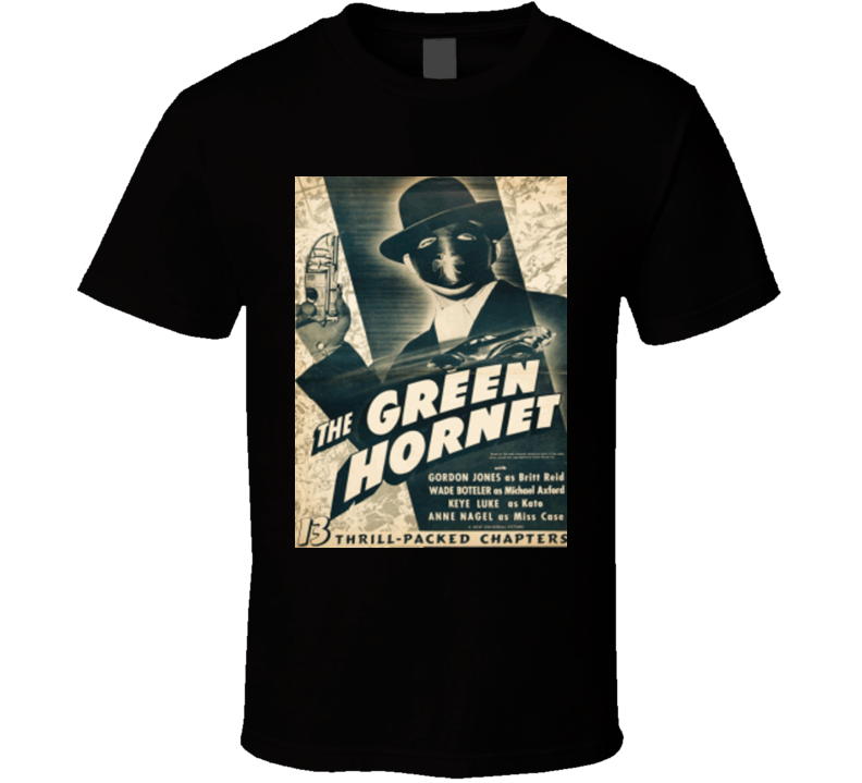 The Green Hornet Alstyle Apparel Men's Black T-shirt