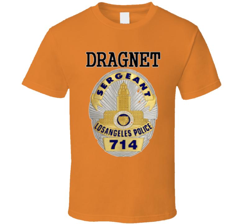 New Alstyle Apparel Men's Orange T-shirt Dragnet Joe Friday Sizes S-5XL