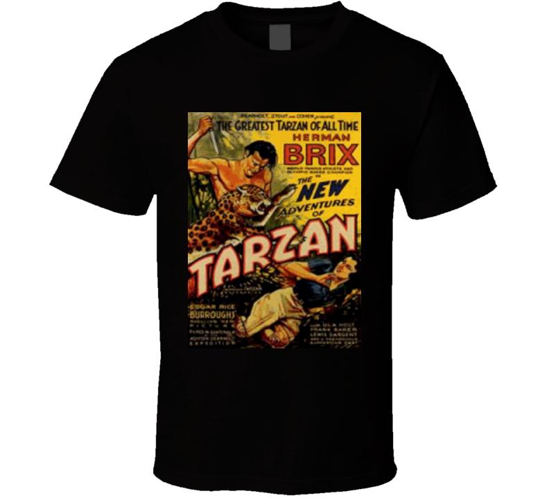 The New Adventures of Tarzan Alstyle Apparel Men's Black T-shirt