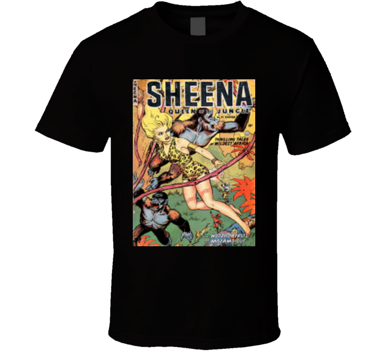 Shenna Queen of the Jungle Alstyle Apparel Men's Black T-shirt