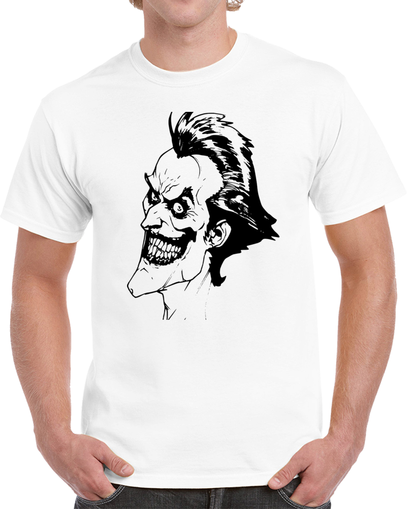Joker T Shirt Alstyle Apparel Men's Comic Batman White T-shirt