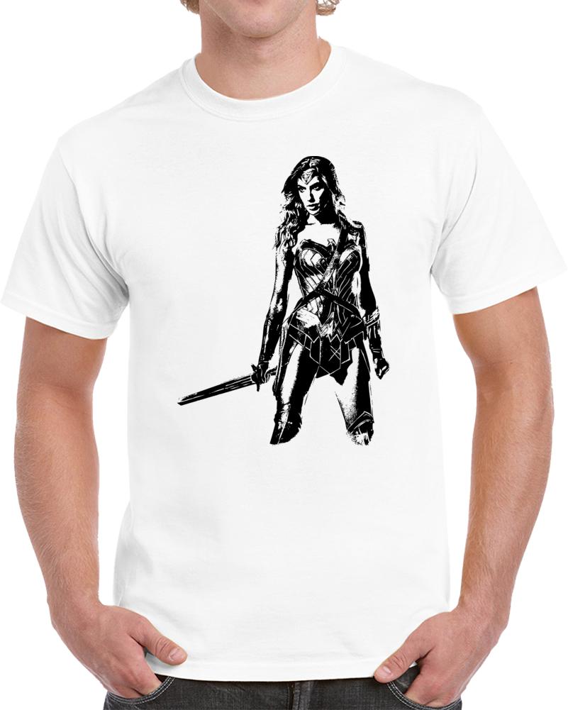 Wonder Woman T Shirt Alstyle Apparel Men's Comic White T-shirt