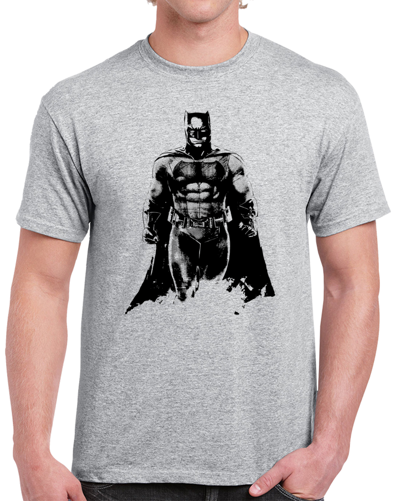 Batman T-shirtAlstyle Apparel Men's Comic Gray T-shirt