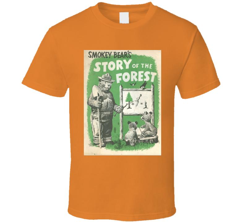 Men's T-shirt Smokey The Bear Orange 1971 Phamphlet Cover Alstyle