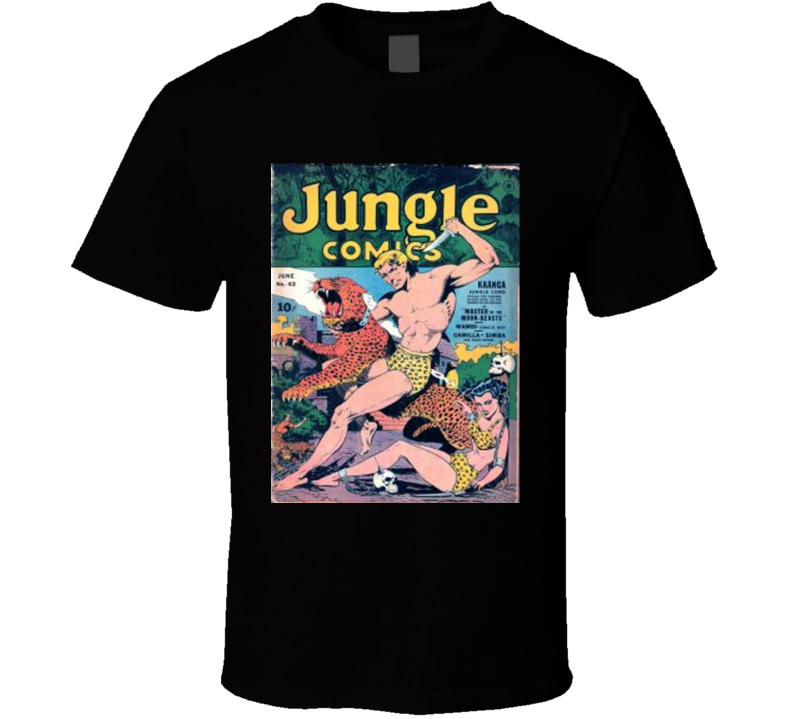 Jungle Comics Cover 1943 Men Alstyle Apparel Men's Black T-shirt