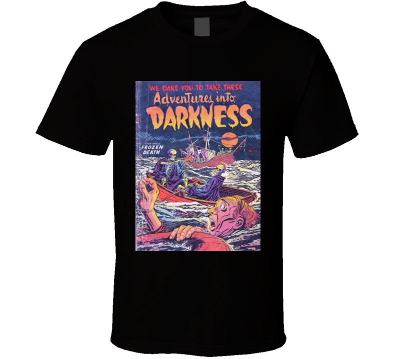 Adventures Into Darkness Comic Book Cover #14 1954  Alstyle Apparel Men's Black T-shirt