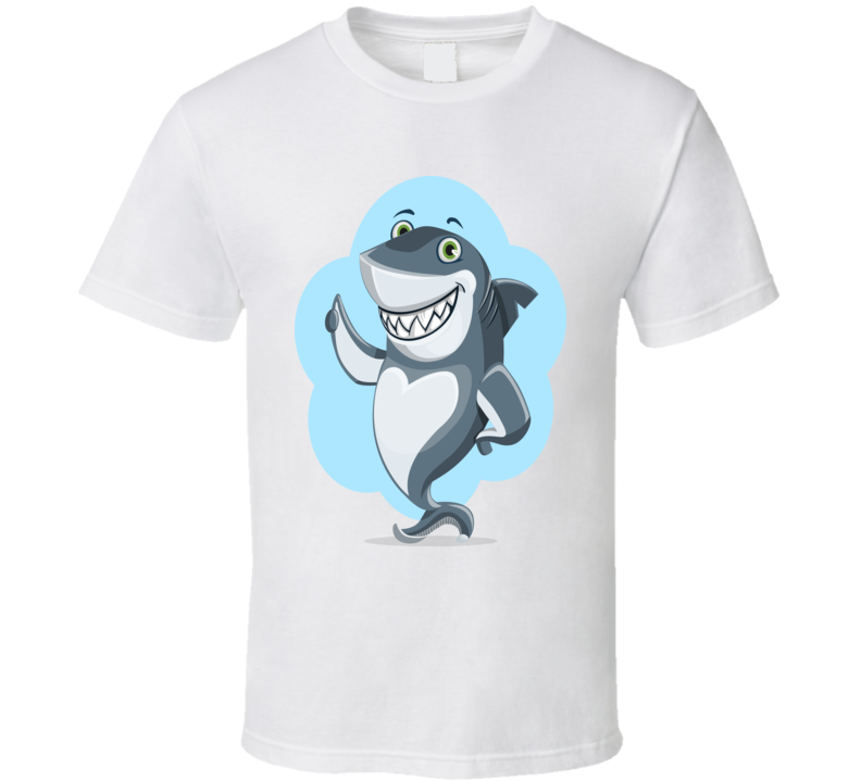 Shark T-shirt Men's White T-shirt  Alstyle Apparel