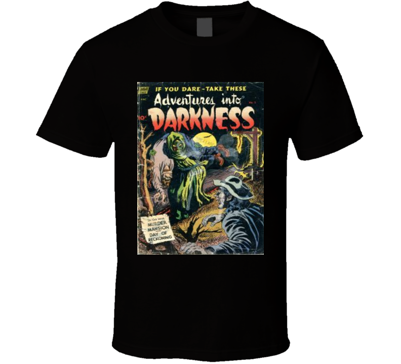 Adventures Into Darkness Comic Book Cover 1952 #5 T-shirt