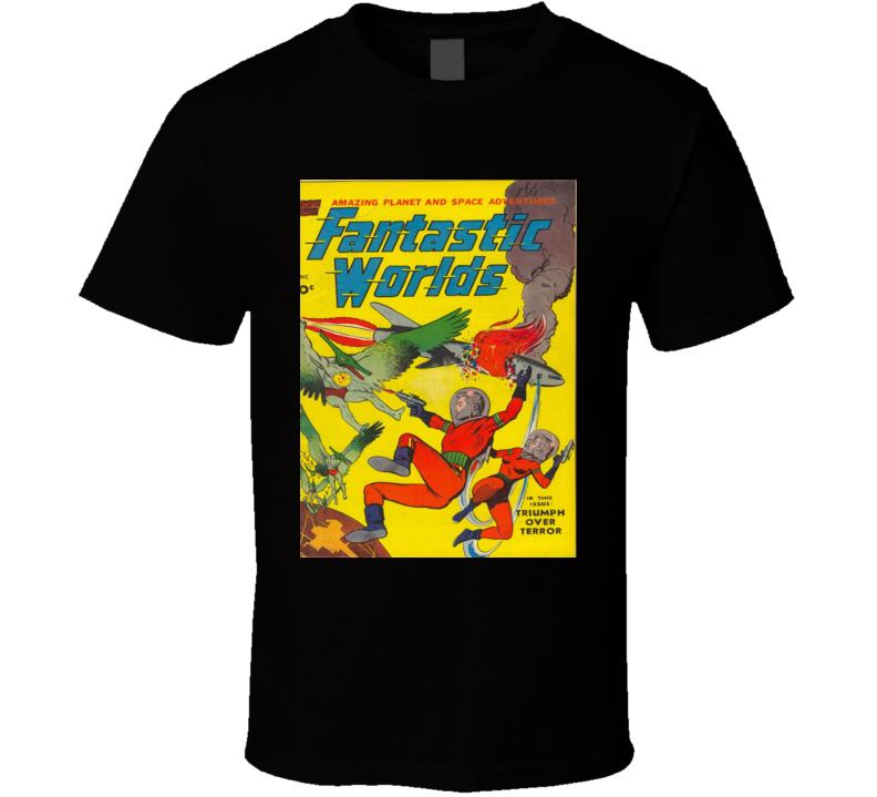 Fantastic Worlds Comic Book Cover #5 1952 T-shirt