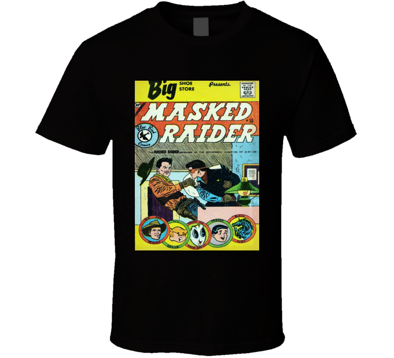Masked Raider Comic Book Cover Print Graphic Mens T-shirt