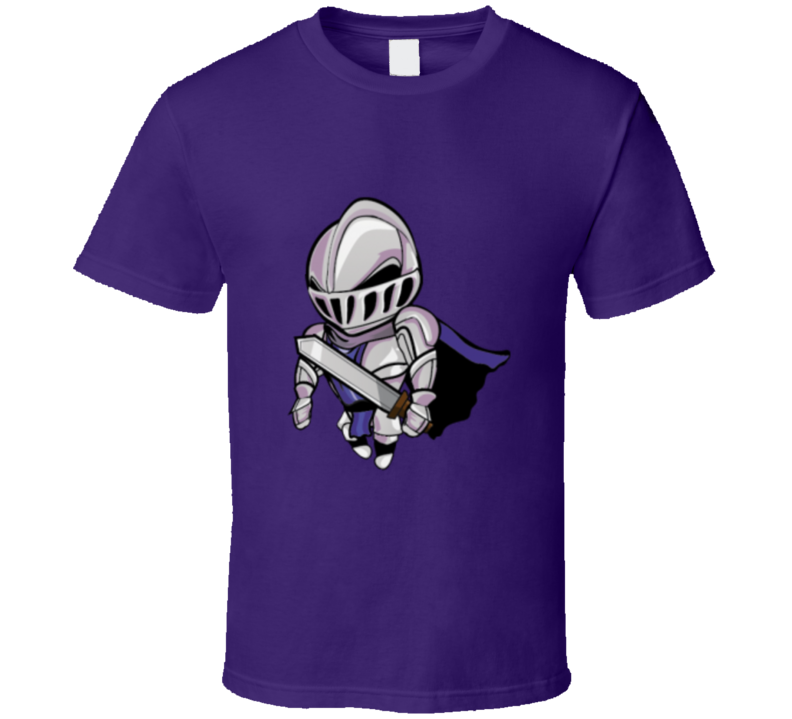 Silver Knight Graphic T Shirt