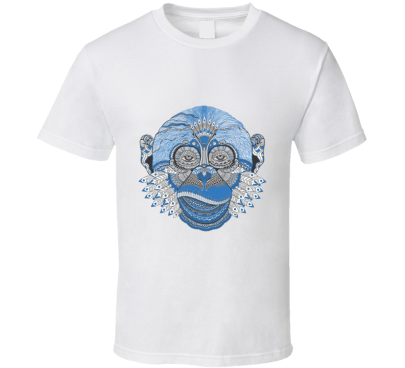 Monkey Face Graphic T Shirt