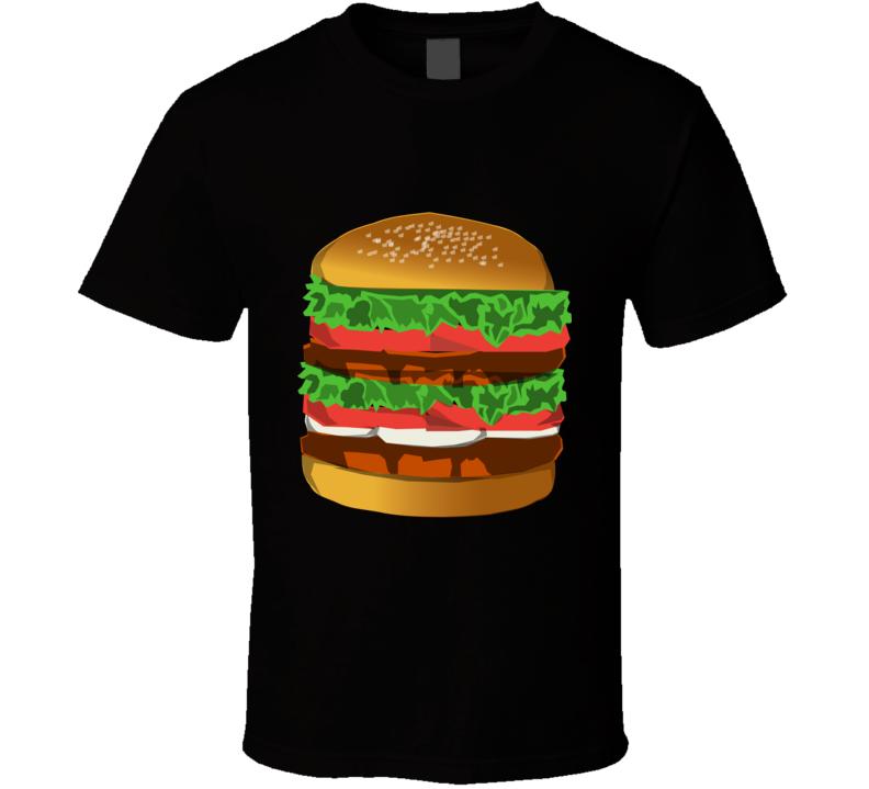 Hamburger Graphic Print T Shirt