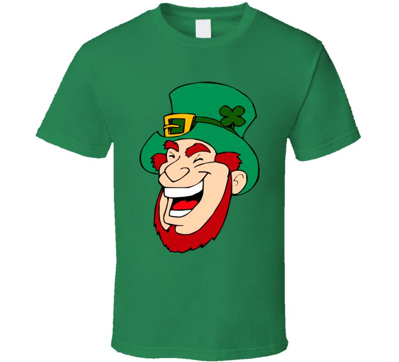 Leprechaun Laughing Graphic Print T Shirt