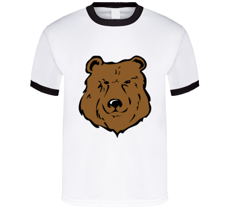 Bear Graphic Print T Shirt