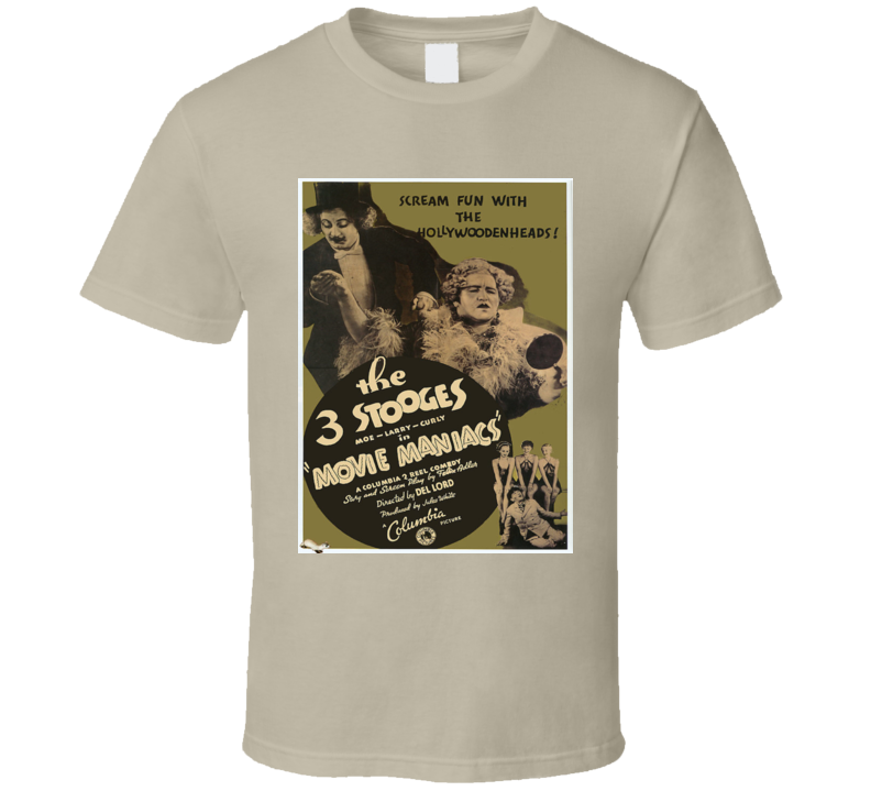 Vintage Movie Poster 3 Stooges 1935 Graphic T Shirt