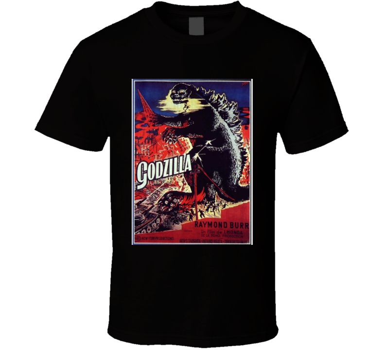 Godzilla T-shirt Movie Poster 1954 Raymond Burr