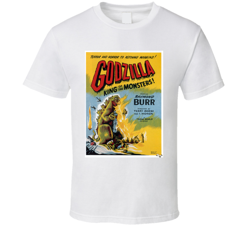 Godzilla T-shirt Movie Poster 1956 Raymond Burr