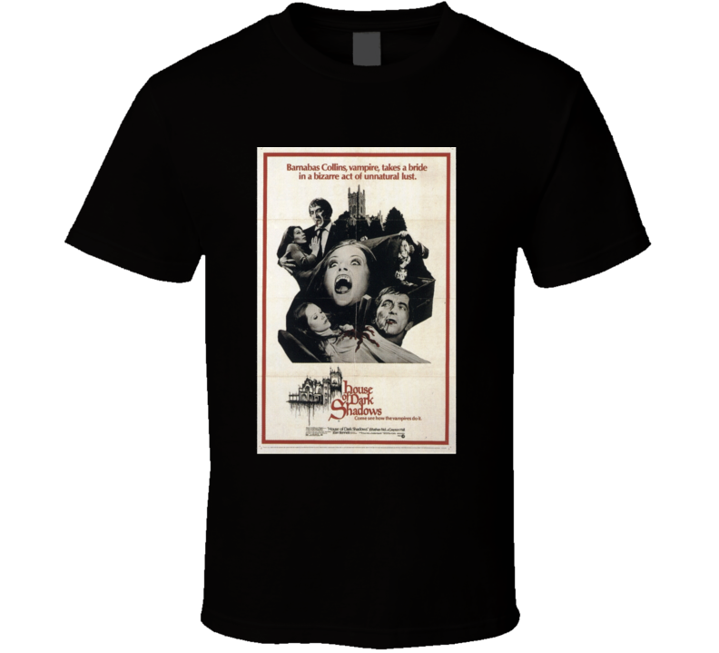 House Of Dark Shadows Vintage Horror Style Movie Poster T-shirt