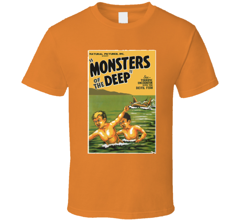 Vintage Monsters Of The Deep Movie Poster T Shirt 1931