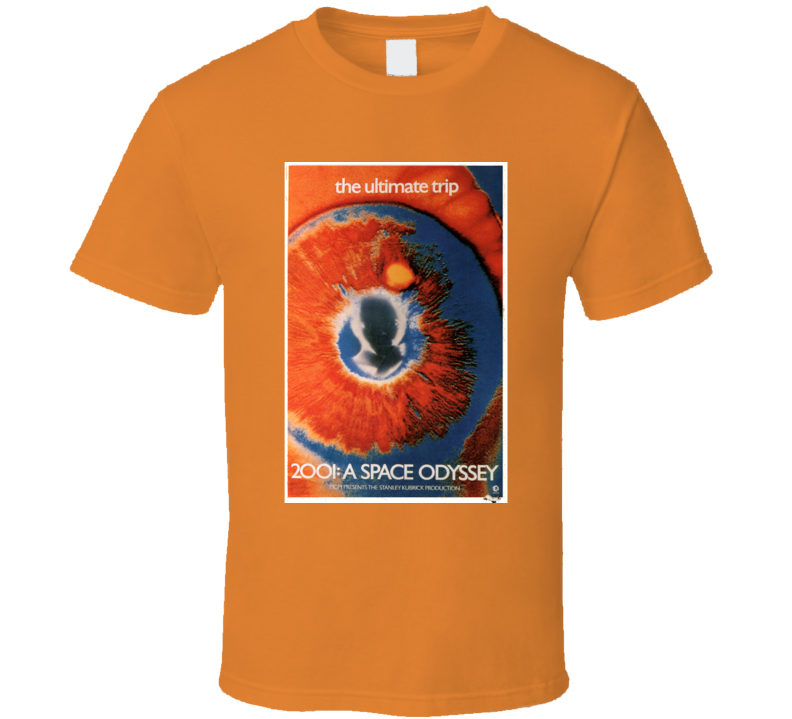 Vintage 2001 Space Odyssey Movie Poster T Shirt 1968