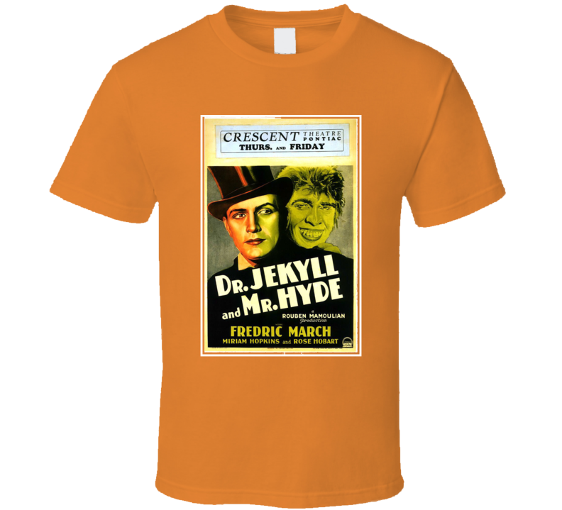 Vintage Movie Poster Dr Jekyll And Mr. Hyde Graphic T Shirt