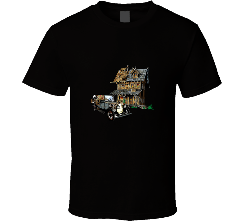 Cool Old House And Car Graphic T Shirt