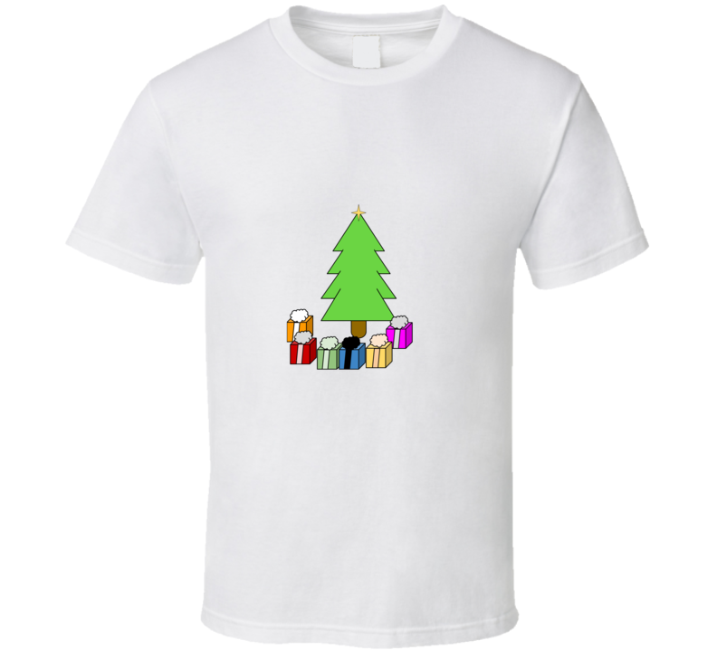 Christmas Tree And Presents Grapgic T Shirt