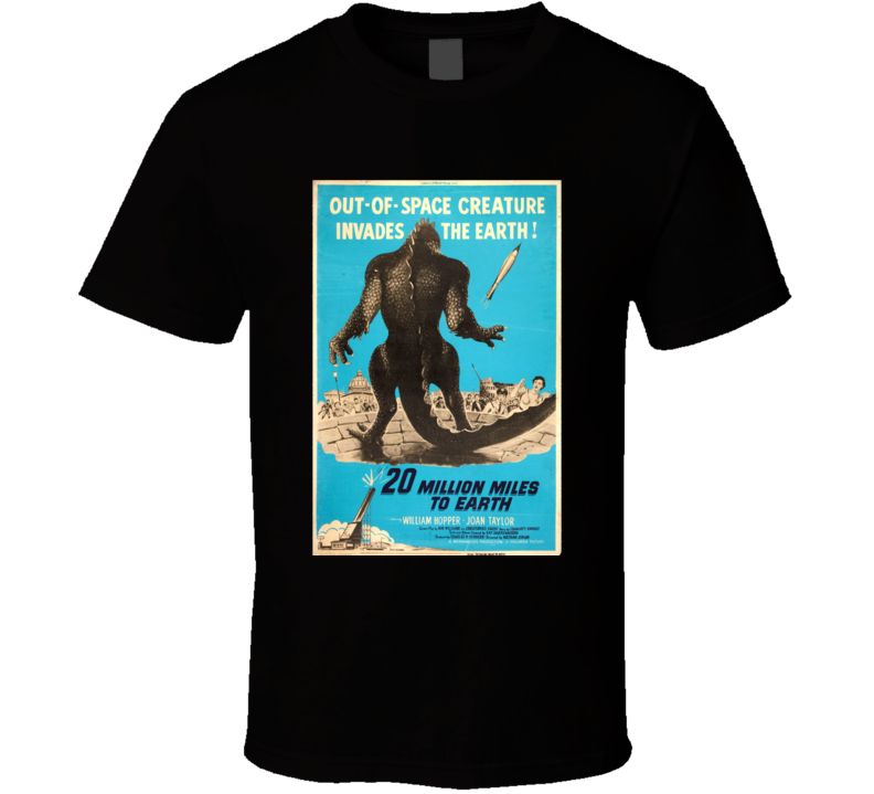20 Million Miles To Earth Movie Poster T Shirt