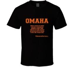 Peyton Manning Omaha Audible definition T Shirt