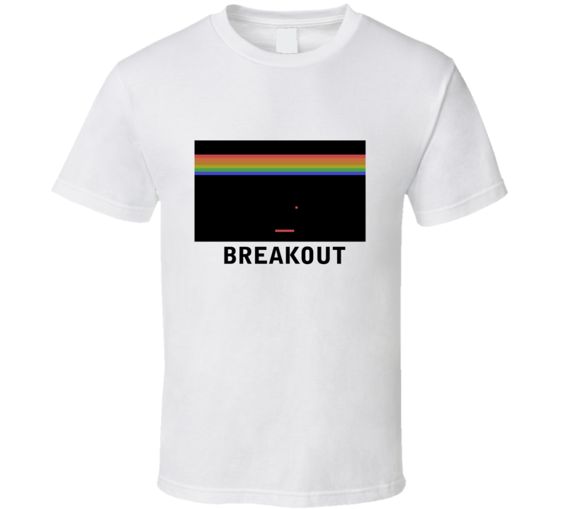 Atari Breakout Screenshot image T Shirt White
