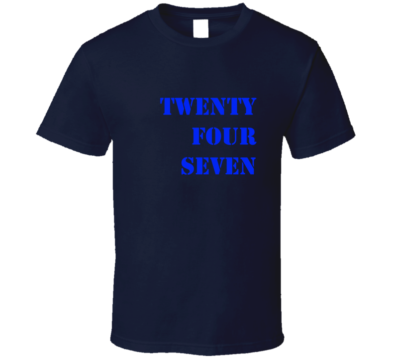 Twenty Four Seven T Shirt Offset Navy Blue