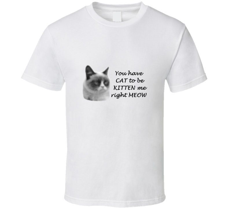 Grumpy Cat Funny phrase T Shirt blurred image design
