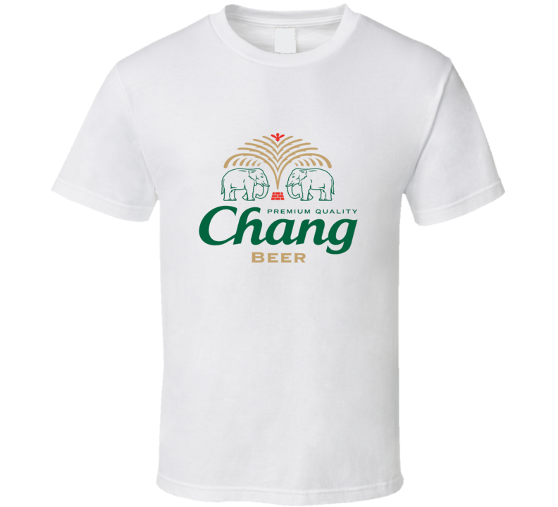 Thai Beer Chang logo T Shirt White