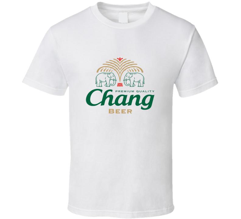 Thai Beer Chang logo T Shirt White