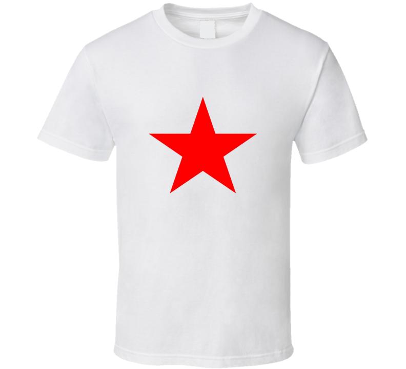 Megan Draper Madmen Sharon Tate Red Star T Shirt