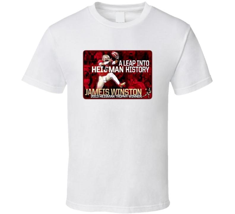 Heisman Leap Jameis Winston Florida State Football T Shirt