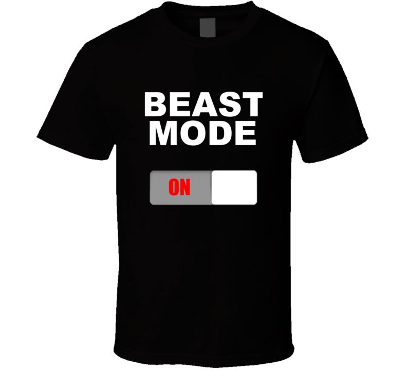Beast Mode On Button T Shirt