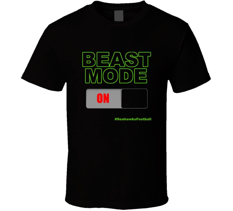 Marshawn Lynch Beast Mode On Button T Shirt