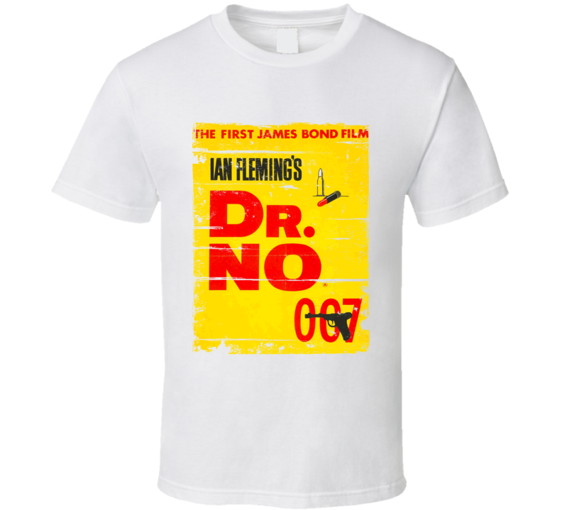 Dr No  Classic Movie Poster Aged Look T Shirt
