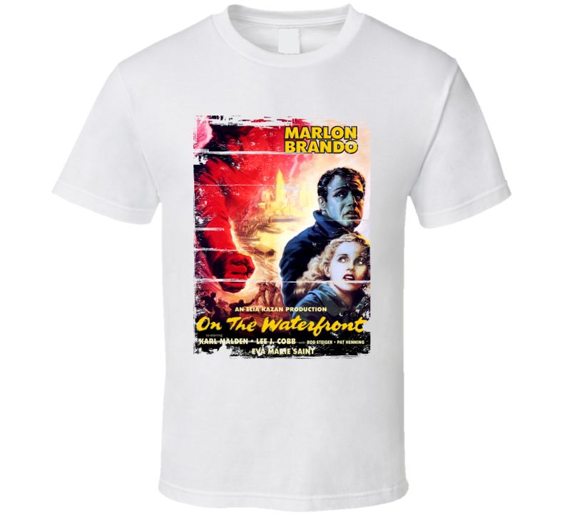 On the Waterfront  Classic Movie Poster Aged Look T Shirt
