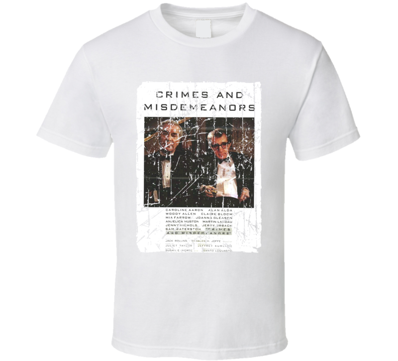 Crimes And Misdemeanors Movie Poster Retro Aged Look T Shirt