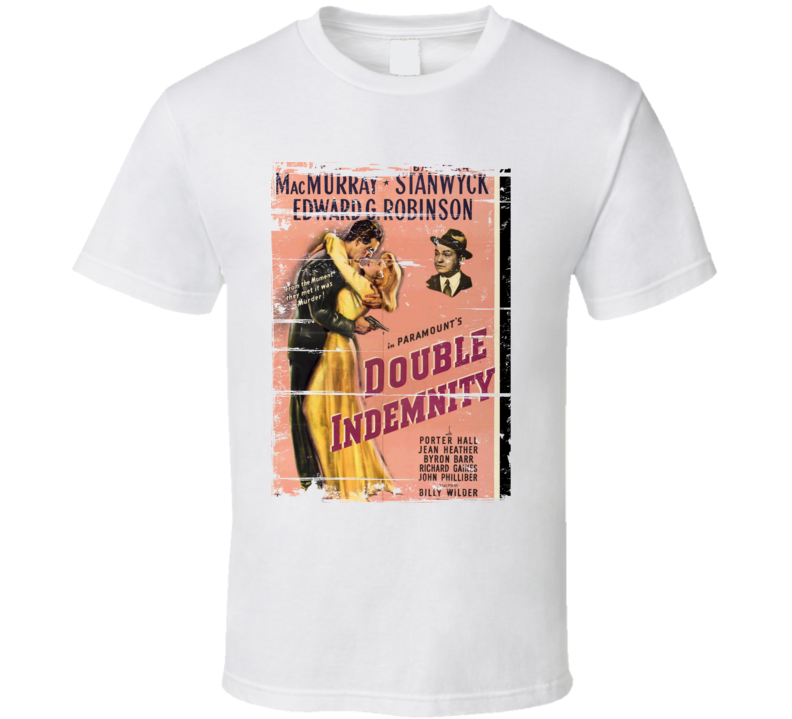Double Idemnity Classic Movie Poster Aged Look T Shirt
