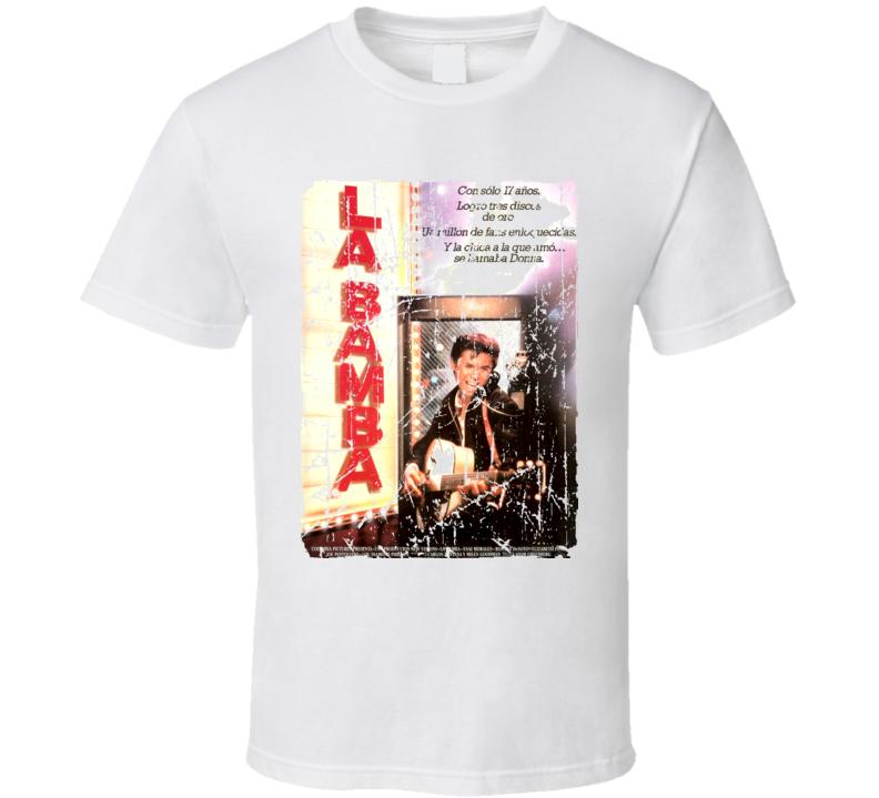 La Bamba Movie Poster Retro Aged Look T Shirt
