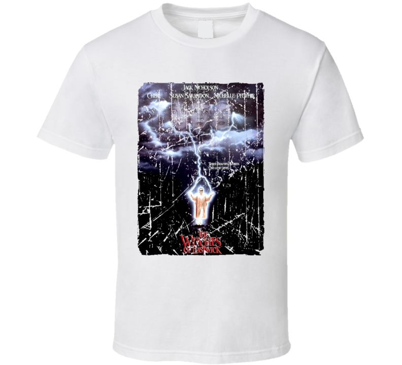 The Witches Of Eastwick Movie Poster Retro Aged Look T Shirt