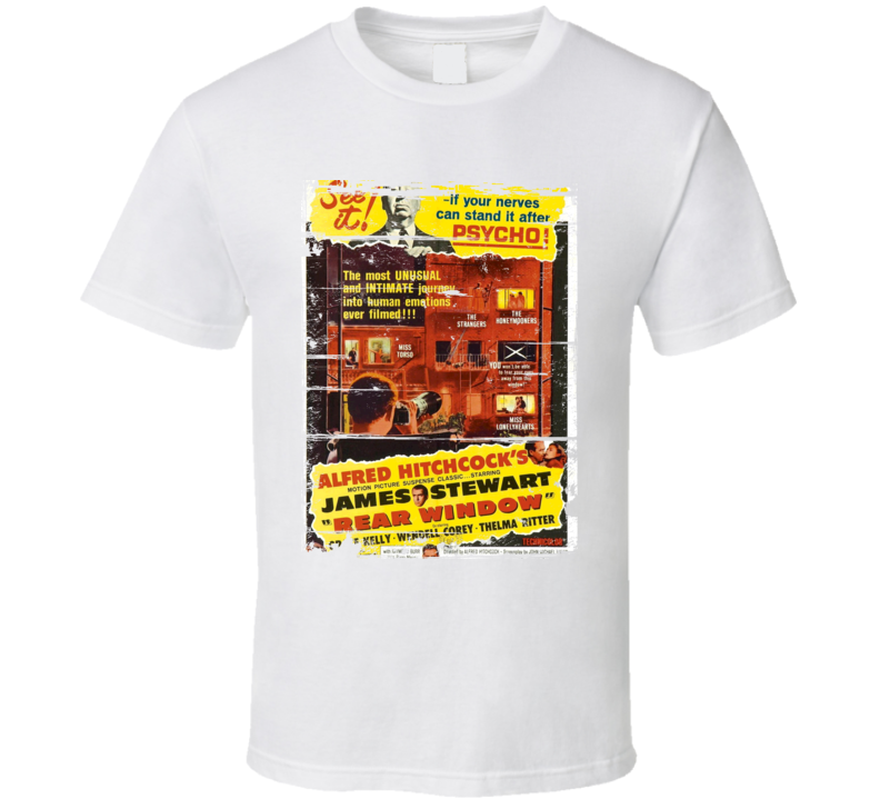 Rear Window Classic Movie Poster Aged Look T Shirt